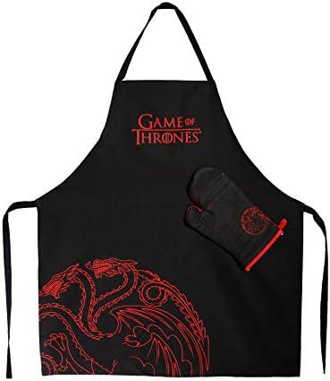 SD toys Targaryen Delantal y Manopla Pack Transparente Game of Thrones Algod/ón-Poli/éster Gris 3x3x3 cm