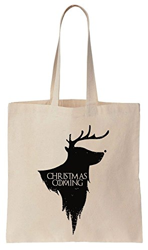 Christmas Is Coming House Of Santa Sacchetto di cotone tela di canapa