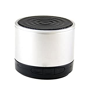 LB1 High Performance New Wireless Bluetooth Mini Speaker for Best Buy Insignia Flex with Hands-Free Speaker Phone and Micro SD card slot (Silver)