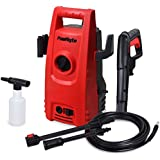 PowRyte Works 1600 PSI 1.6 GPM Compact Electric Pressure Washer, Portable Electric Power Washer with External Detergent Dispenser for Car, Vehicle, Patio, Driveway, Floor, Wall, Furniture