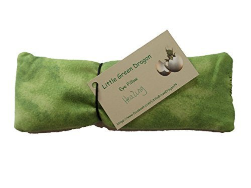 Handcrafted Eye Pillow for Healing with Spearment Fennel and Flax Hot or Cold (Energy Eye Pillow)