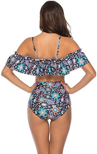 MXLTiandao Bikini Traje de baño de Dos Piezas para Mujer Top ...
