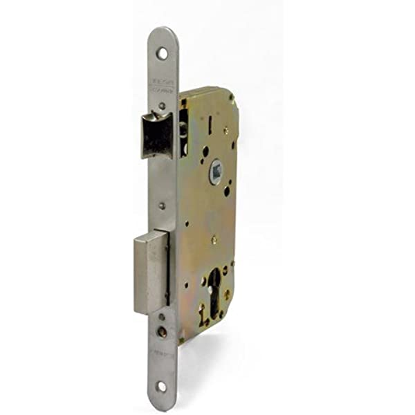 Tesa Assa Abloy 413058RHN, Cerradura de embutir para puertas de madera sin cilindro, Entr.50mm, Niquelado: Amazon.es: Bricolaje y herramientas