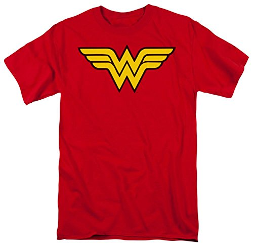 Wonder Woman Classic Logo Symbol Tee (XXL, Red)