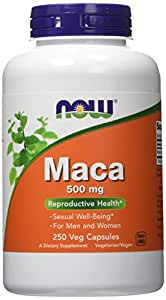 NOW Foods Maca 500mg, 250 Vcaps
