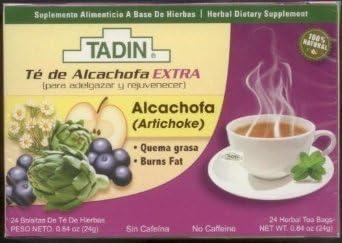 3 PACK Tadin Artichoke Diet Tea Alcachofa Te - Total of 72 Tea ...