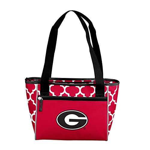 Logo Brands NCAA Georgia Bulldogs 16 Cooler Can Tote, Red, One Size