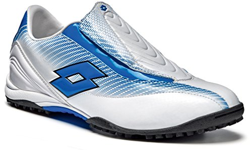 Lotto Zhero Gravity 300 TF Mens Shoes, Size 12 (UK), white / blue aster