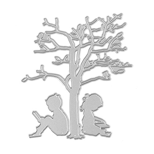 Fyore Metal Cutting Dies Stencil Template Mould for DIY Scrapbooking Album Paper Card Embossing Craft Decoration (BOY AND GIRL)