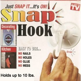 Amazoncom 2 Pcs Up To 10 Lbs Snap Hook Wall Hangers As Seen On
