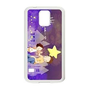 Purple Happy Samsung Galaxy S5 Cell Phone Case White Phone cover E1340973