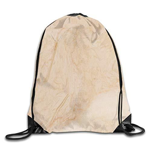 Andrea Back Drawstring Backpack Bag Marble Flooring Texture Rucksack For Gym Travel Color-03 ()