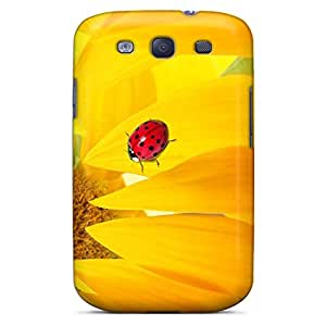 samsung galaxy s3 Fashion cell phone carrying skins Scratch-proof Protection Cases Covers Hybrid sunflower ladybug
