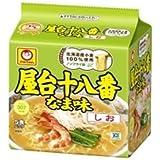 東洋水産 マルちゃん 屋台十八番 なま味しお 5食パック×6セット 1ケース