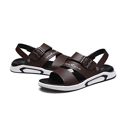 Brown da Beach Casual Uomo Sandali Slippers Shoes LEDLFIE Summer Platform qRwz6xRC
