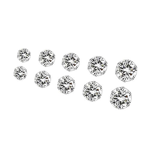 Toaimy Fashion Earrings Elegant Rhinestone Crystal Ear Stud Jewelry 5 Pairs