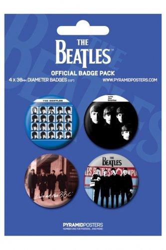 Pyramid International - The Beatles pack 4 badges Blue
