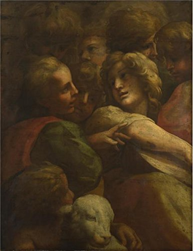 The High Quality Polyster Canvas Of Oil Painting 'After Correggio - Group Of Heads (1),before 1587' ,size: 10x13 Inch / 25x33 Cm ,this Cheap But High Quality Art Decorative Art (Turbo Snail Costume For Sale)