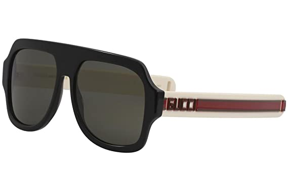 ba588bad26 Image Unavailable. Image not available for. Color  Sunglasses Gucci GG 0255  S- 001 BLACK GREY IVORY