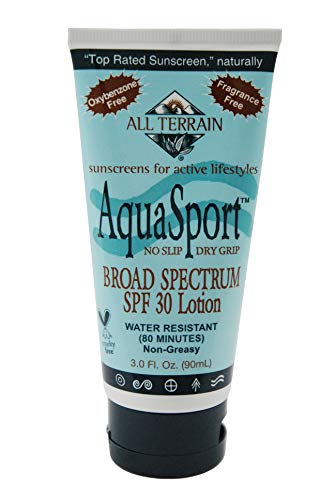 All Terrain AquaSport Broad Spectrum Sunscreen Lotion SPF 30 (Pack of 2) With Vitamin E, Sunflower, Aloe Vera, Cucumber, Grapefruit, Jojoba Oil and Vitamin C, 3 fl. oz. each. (All Terrain Aqua Sport Sunscreen)