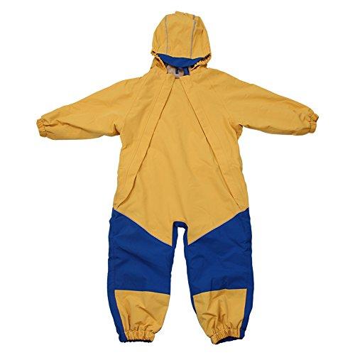 Kids Water-proof Fleece-lined Rain Suit One-Piece Hooded By Jan & Jul (Yellow,2T) by Jan & Jul