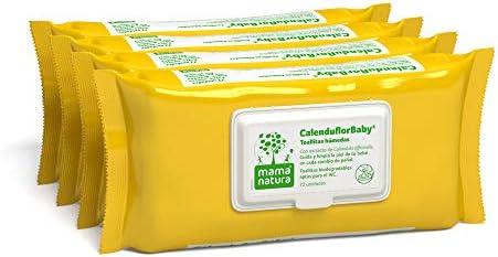 CalenduflorBaby® Toallitas húmedas Bebé Mama Natura®, Biodegradables con Extracto Calendula officinalis. 4 packs x 72 uds (288 unidades) - Aptas para el WC…: Amazon.es: Belleza