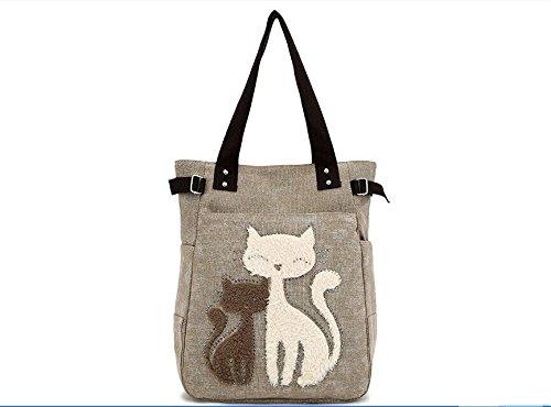 Money coming shop 2017 Fashion Women's Handbag Cute Cat Tote Bag Lady Canvas Bag Shoulder - Givenchy Cat Bag