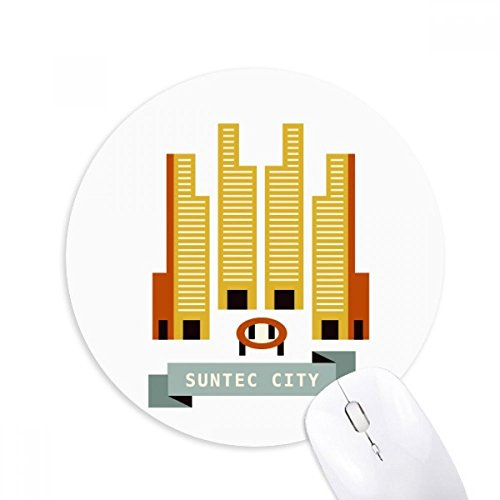 Singapore Suntec City Landmark Round Non-Slip Rubber Mousepad Game Office Mouse Pad - Suntec City Singapore