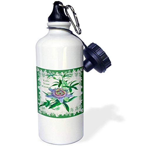 - Passion Flower Gifts Gardeners Birthday Ideas Wildflower Tennessee White Funny Stainless Steel Sports Water Bottle Women Men Kids 21oz