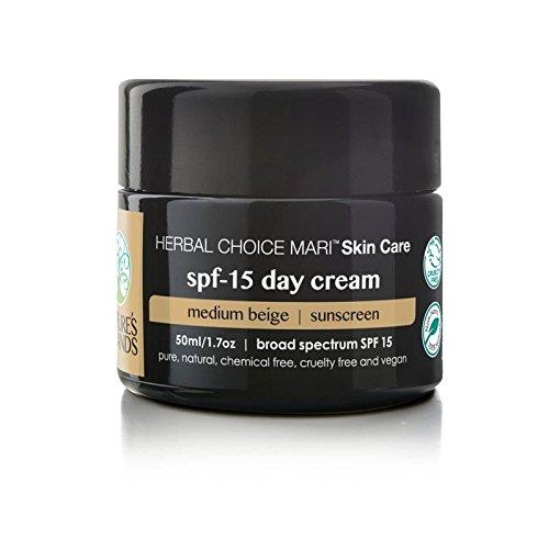 Herbal Choice Mari Natural SPF 15 Day Cream, Medium Beige; 1.7floz