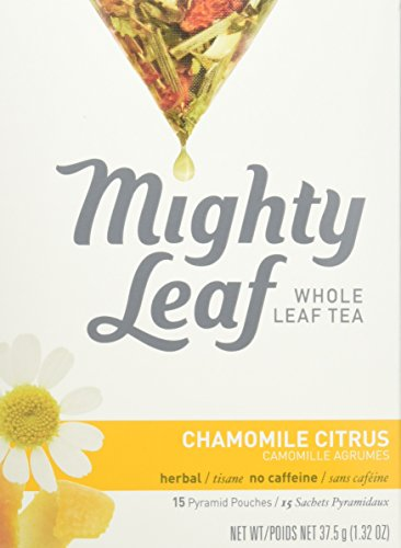 Mighty Leaf Tea Chamomile Citrus, 15-Count Whole Leaf Pouches (Pack of 6) (Leaf Mint Tea Mighty)