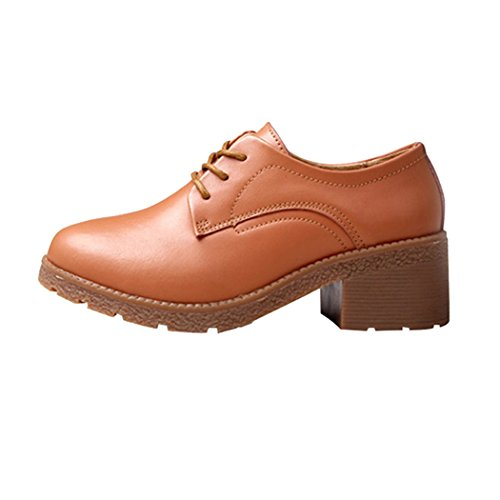 snowman-lee-womens-oxford-lace-up-shoes-leather-mid-heel-hallowmas-dress-pumps-75-us-brown