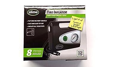 SLIME 40032 - COMP03 Tire Inflator-12V Car Portable Air Compressor w/ LED light