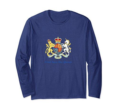 Unisex Royal Coat of Arms, God Save the Queen Medium Navy Queen Elizabeth Coat Of Arms