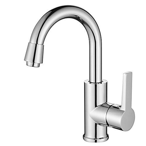 Homelody® 360° drehbar Wasserhahn Küchenarmatur Chrom Bad Waschtisch Armatur Waschtischarmatur mischbatterie für Badzimmer/Küche