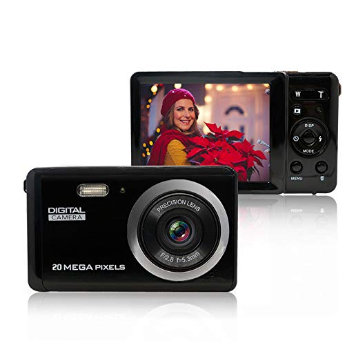 Mini Digital Camera for Photography with 3 Inch LCD 8X Digital Zoom, 20MP HD Digital Camera Rechargeable Point and Shoot Camera,Indoor Outdoor for Kids/Seniors/Learner(Black)