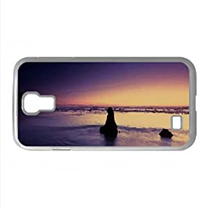 Purple Evening On The Beach Watercolor style Cover Samsung Galaxy S4 I9500 Case (Beach Watercolor style Cover Samsung Galaxy S4 I9500 Case)