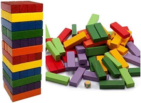 ML Bloques de Madera Coloridos Juegos didácticos de Tablero de apilamiento de Torre 48 Piezas para niños de 3 años en adelante: Amazon.es: Juguetes y juegos