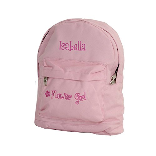 Personalized Flower Girl Tote - Personalized Wedding Day Flower Girl Backpack