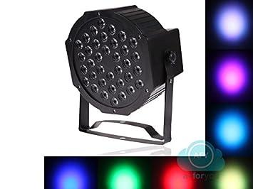 Proyector de luces LED, faro de 36 LED RGB, mezcla suave ...