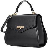 Kadell Women Leather Handbag Purse Shell Shape Top Handle Bag with Removable Strap