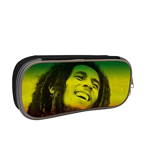 SsSEYYA Bob-Marley Pencil Bag Makeup Pen Pencil Case Big Capacity Pouch Durable Students Stationery with Double Zipper Pen Holder for School/Office (Weed Sonnenbrille)