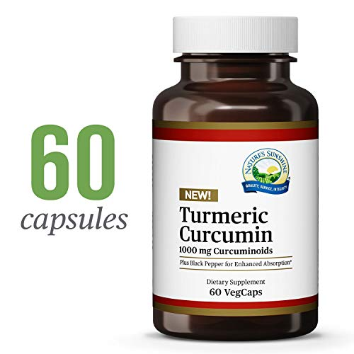 Nature's Sunshine Turmeric Curcumin, 60 VegCaps | Turmeric Curcumin Supplements with 1000 mg Curcuminoids and Black Pepper Extract for Enhanced Bioavailability