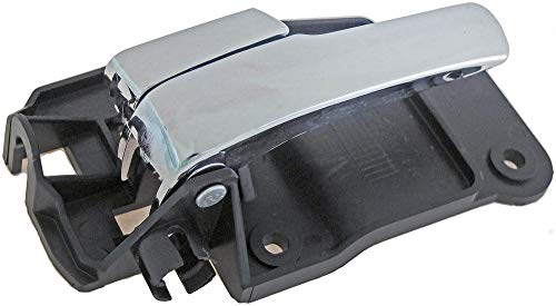 APDTY 89124 Interior Door Handle Front Left Driver-Side Chrome Handle; Black Trim For 2000-2002 Lincoln LS (Replaces Ford YW4Z-5421819-AA; YW4Z5421819AA)