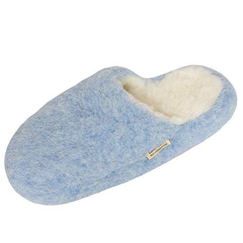 Anti laine de laine SamWo 100 confortable Chauffe doux look mouton Pantoufles de mouton Taille Unisexe bleu en Semelle reins Dérapante clair 8fqAZrWa8