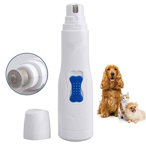 FAOUGESS Pet Cordless Nail Grinder Trimmer, Cordless for Cats Dogs Rabbits Birds Small & Medium Size Animals Professional Home Grooming Tool Low Noise & Painless Battery Operation