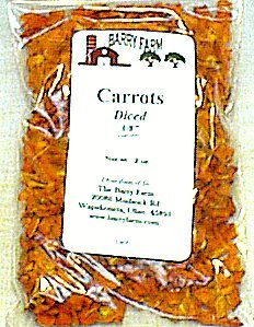 Dried Carrot Dices, 2 oz. 3/8 in. Dice