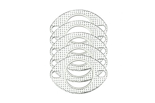 """CarXX 2"""" Exhaust Gasket 2-Bolt 53mm Flange High Temperature Graphite for Headers, Catback, Axleback, Downpipe Oval Design (5 Pack)"""