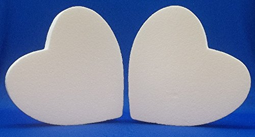 12 Inch Styrofoam Balls Wholesale (2 PC Set EPS Styrofoam HEARTS 12
