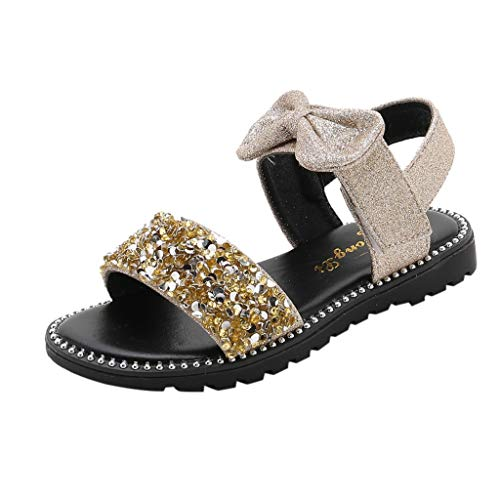 (Sandals For Girls Size 9,Baby Sandals For Girls 12-18 Months,Black Sandals For Toddler Girls Size 12,Bunny Slippers For Girls,Cowgirl Boots For Girls Size 3,Gold,Recommended Age:11Years,US:1.5Y)
